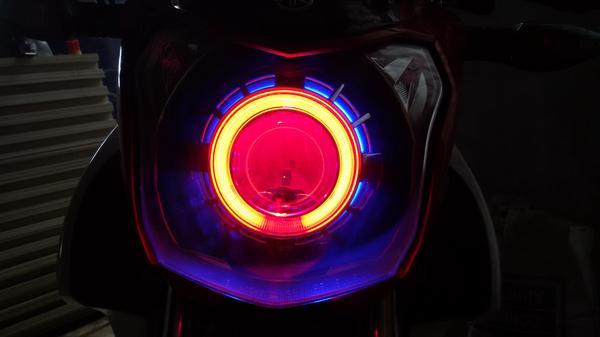 Modifkasi vixion lampu projektor keren
