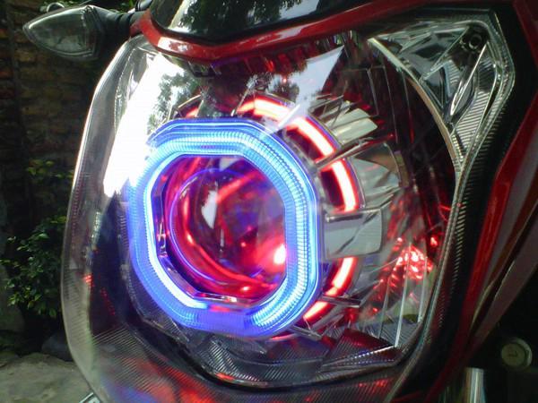 Modifkasi vixion lampu projektor