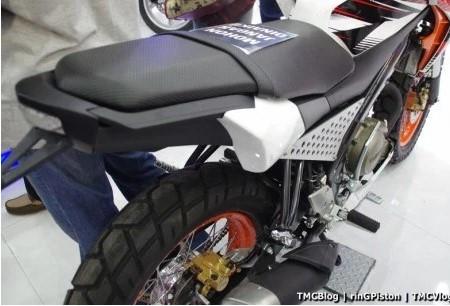 Modifikasi Vixion Jari jari jok motor