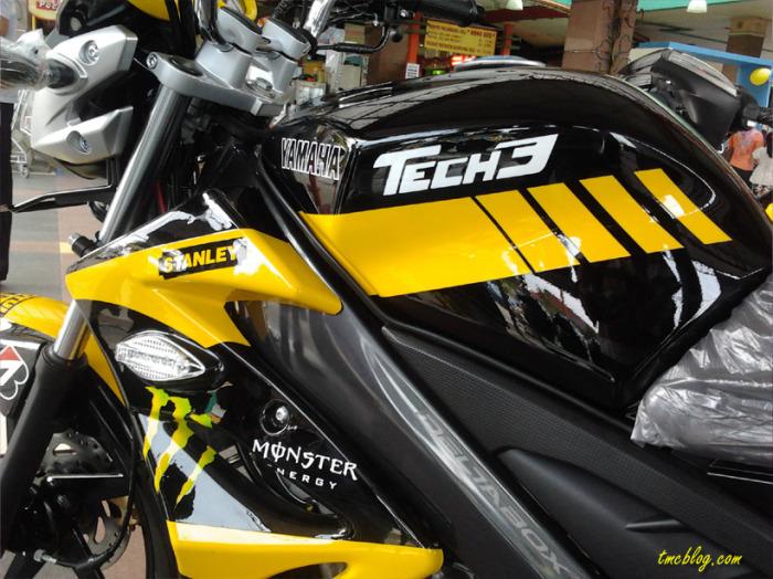 Modif vixion 2012 Livery Yamaha Tech 3 MotoGP Terbaru