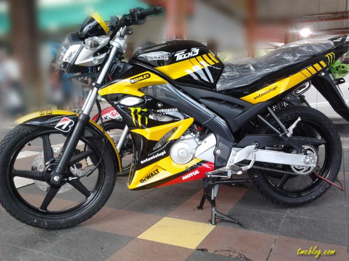 Modif vixion 2012 Livery Yamaha Tech 3 MotoGP keren